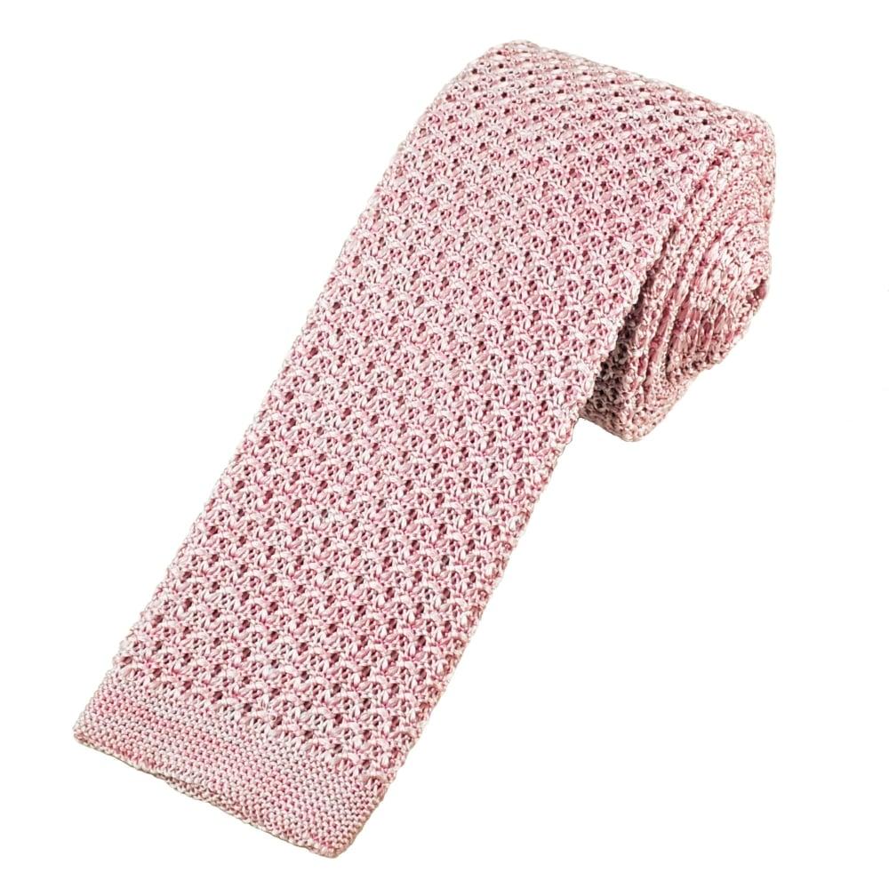 Van Buck Pink Marl Pattern Designer Silk Knitted Tie from Ties Planet UK