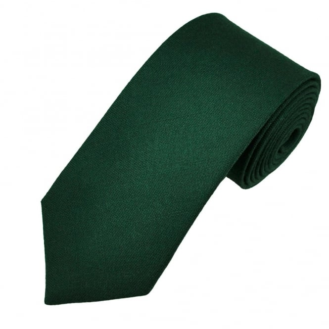 Van Buck Plain Dark Green Lambswool Tie