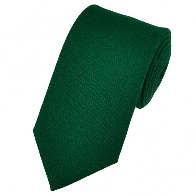 Van Buck Plain Hunter Green Lambswool Tie