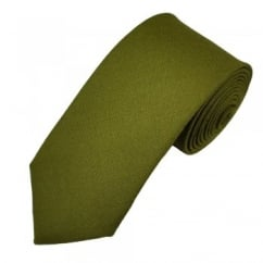 Van Buck Plain Olive Green Lambswool Tie