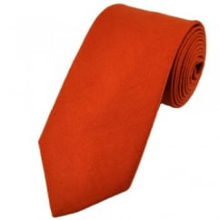 Van Buck Plain Orange Lambswool Tie