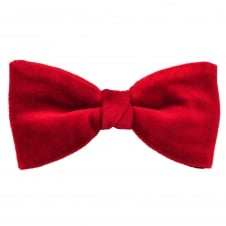 Van Buck Plain Red Men's Velvet Bow Tie