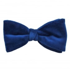 Van Buck Plain Royal Blue Men's Velvet Bow Tie