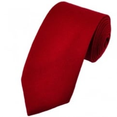 Van Buck Plain Scarlet Red Lambswool Tie