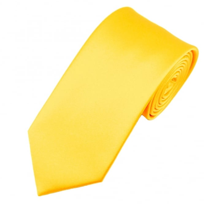 Van Buck Plain Sunflower Yellow Satin Tie