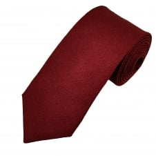 Van Buck Plain Wine Red Lambswool Tie