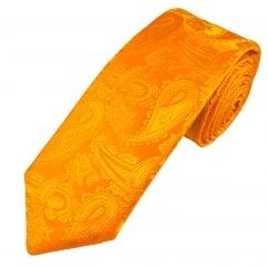 Van Buck Platinum Gold Paisley Silk Designer Tie - Limited Edition