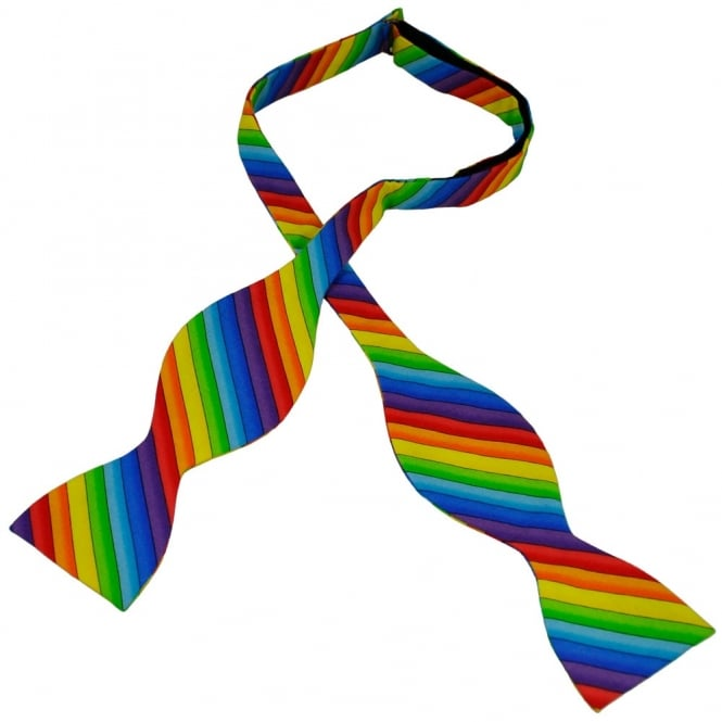 Van Buck Rainbow Novelty Self Tie Bow Tie