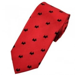 Van Buck Red & Black Scottie Dog Tie