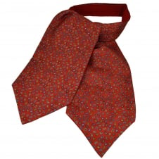 Van Buck Red, Blue, Yellow & White Paisley Patterned Silk Day Cravat