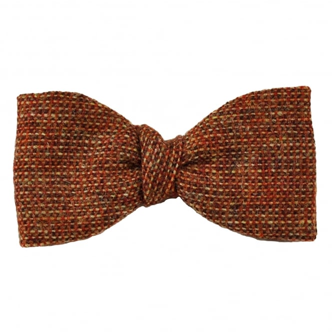Van Buck Red Check 100% Wool Bow Tie