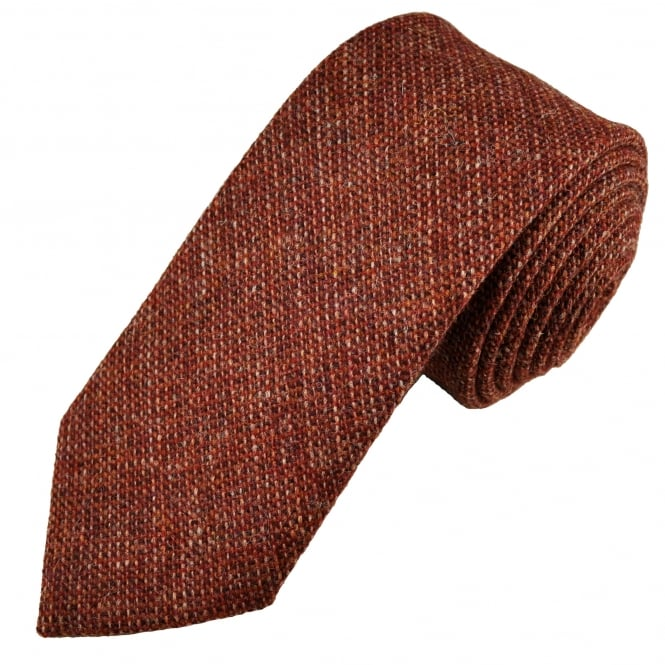 Van Buck Red Check 100% Wool Tie