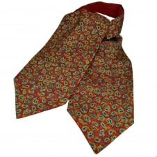 Van Buck Red, Yellow & Blue Paisley Patterned Silk Day Cravat