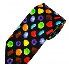 Van Buck Retro Sweets Black Cotton Men's Tie