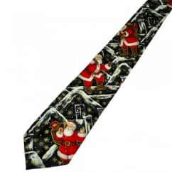 Van Buck Santa Claus Black Novelty Christmas Tie