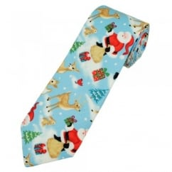 Van Buck Santa Claus & Reindeer Christmas Novelty Men's Tie