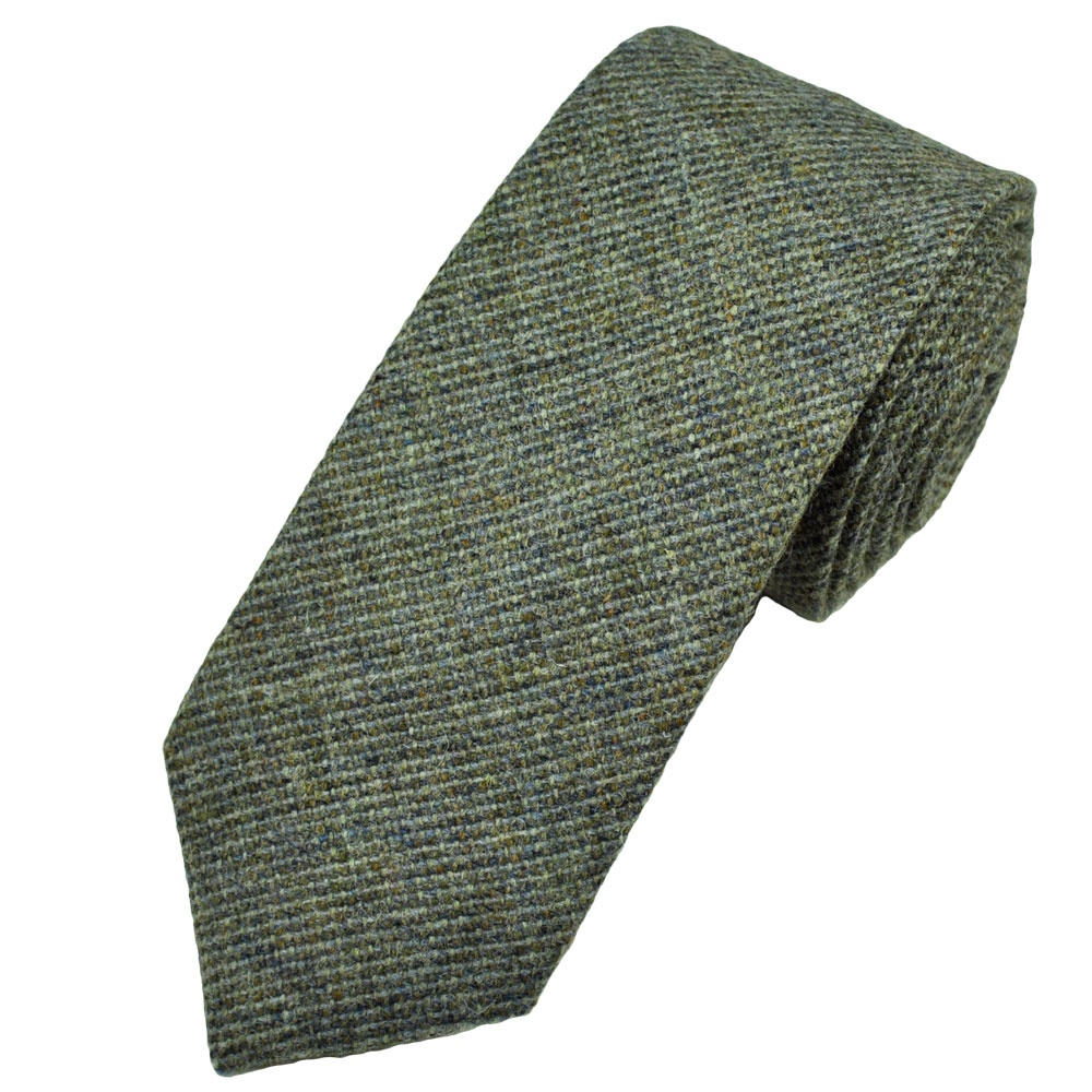 buck silver grey check 100 wool tie from ties planet uk