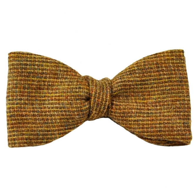 Van Buck Tan Check 100% Wool Bow Tie