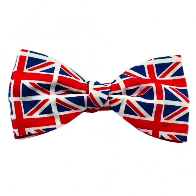 Van Buck Union Jack Flag Designer Novelty Bow Tie