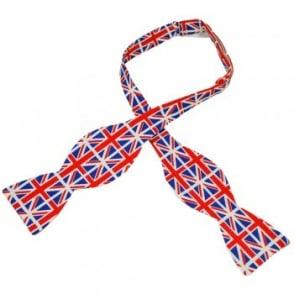 Van Buck Union Jack FlagDesigner Novelty Self Tie Bow Tie