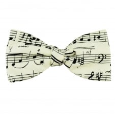 Van Buck White & Black Sheet Music Novelty Bow Tie