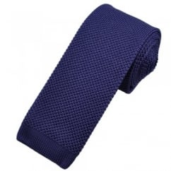 Vidoni Plain Heather Purple Silk Designer Knitted Tie