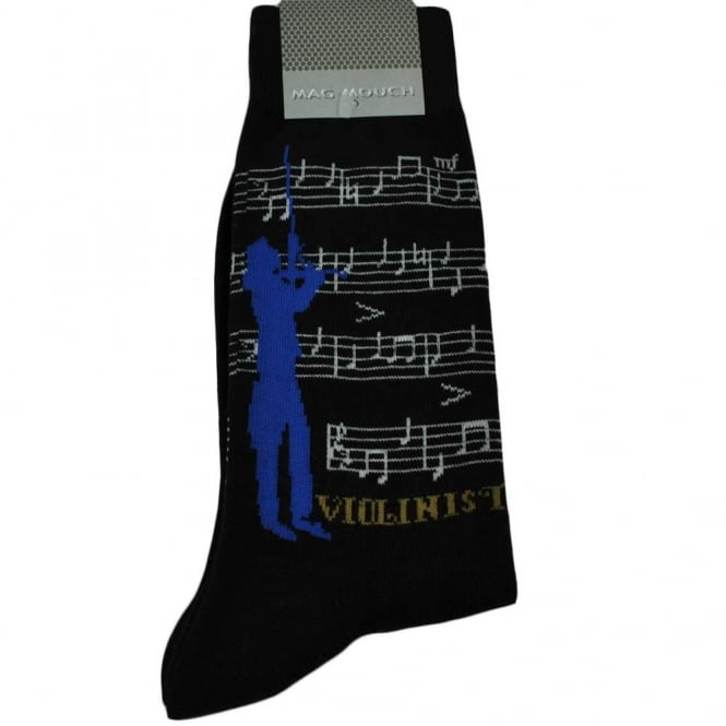 Violinist Novelty Socks