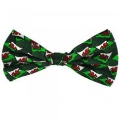 Wales Flag Silk Bow Tie