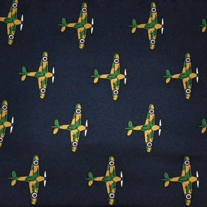 War Planes Silk Novelty Pocket Square Handkerchief