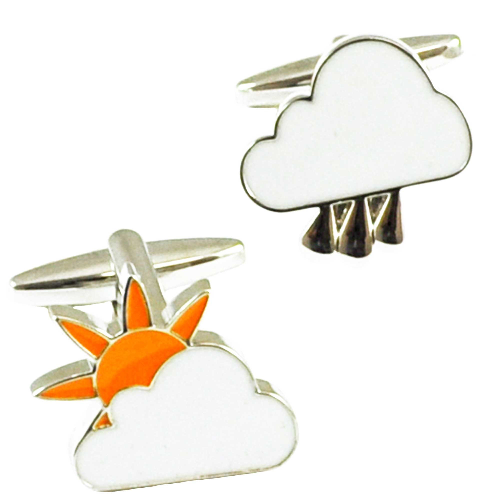 Weather Sun Rain Cufflinks