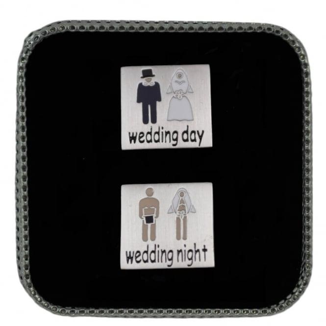 Wedding Day Night Novelty Cufflinks