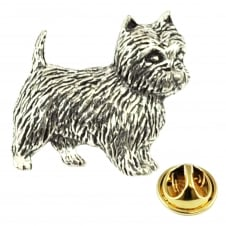 West Highland White Terrier Westie Dog Pewter Lapel Pin Badge
