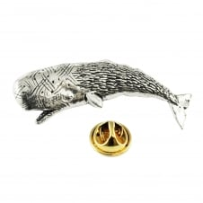 Whale English Pewter Lapel Pin Badge