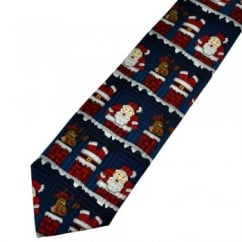 When Santa Got Stuck Up The Chimney Silk Novelty Christmas Tie
