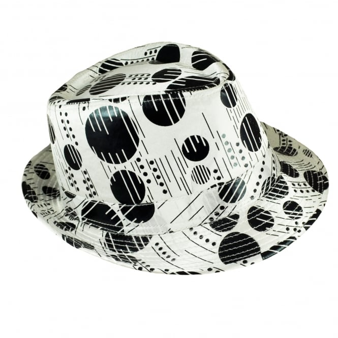 White & Black Trilby Hat