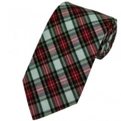 White Dress Stewart Tartan Patterned Tie by Van Buck