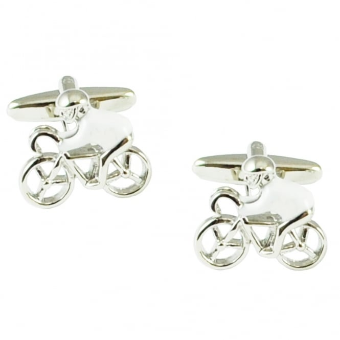 White Jersey Cycling Novelty Cufflinks