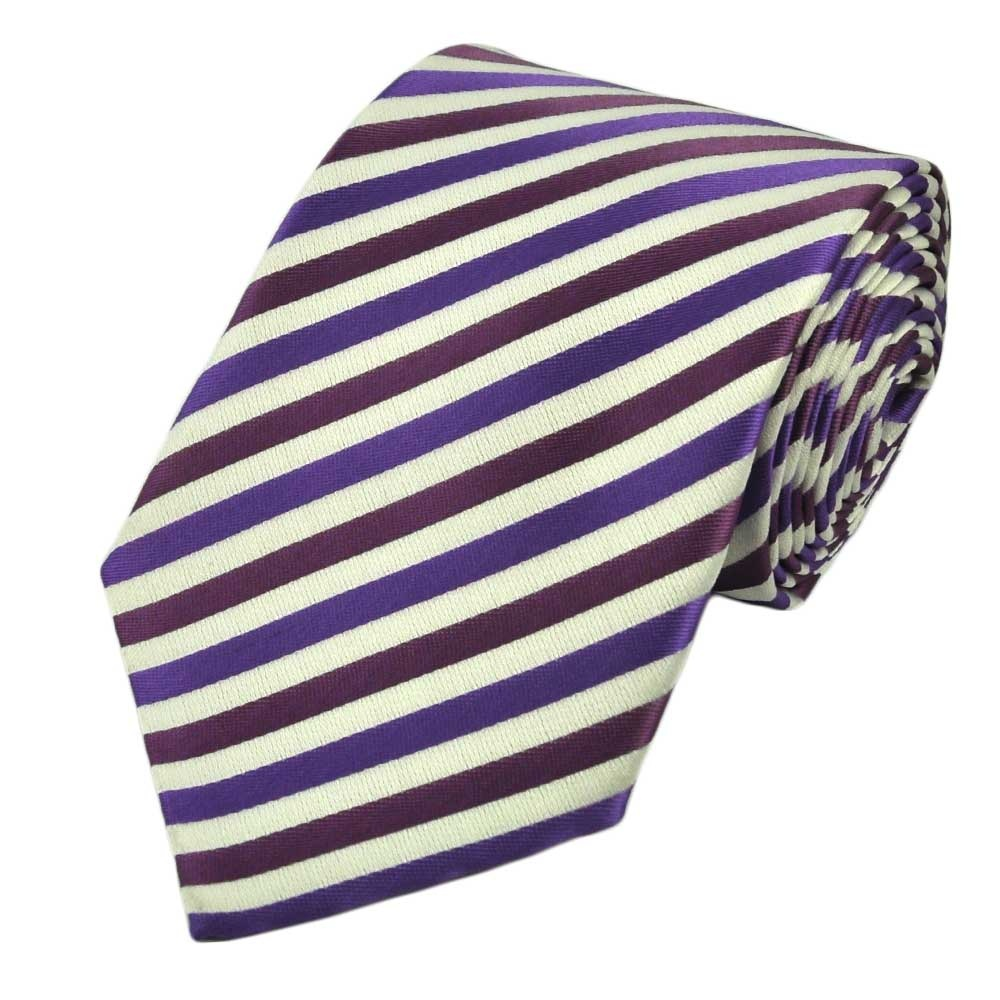 white lavender purple striped tie from ties