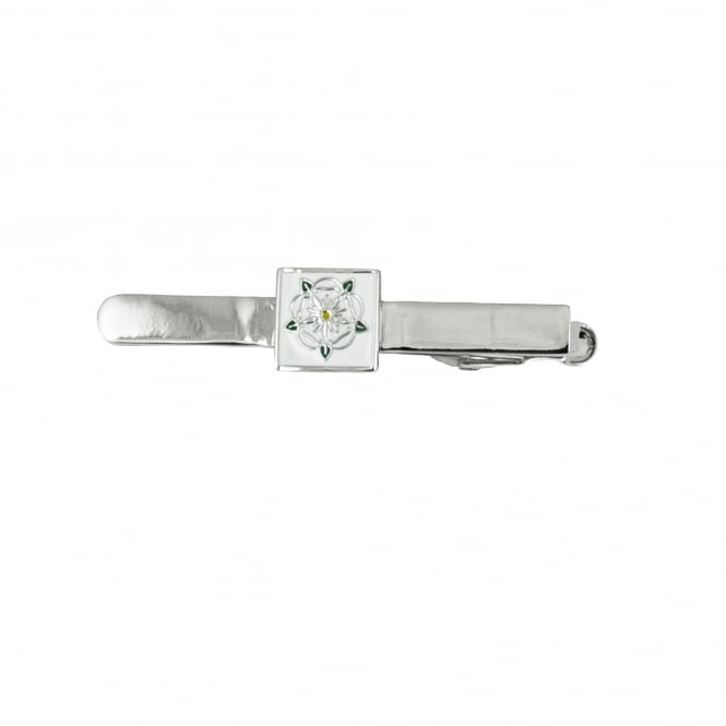 White Rose of York Yorkshire Rose Tie Clip