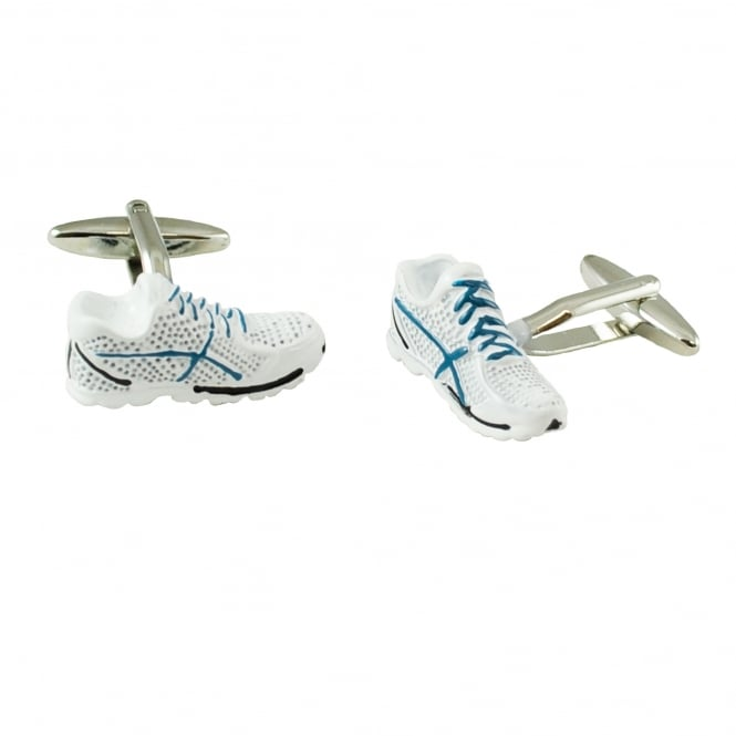White Trainers Sneakers Novelty Cufflinks