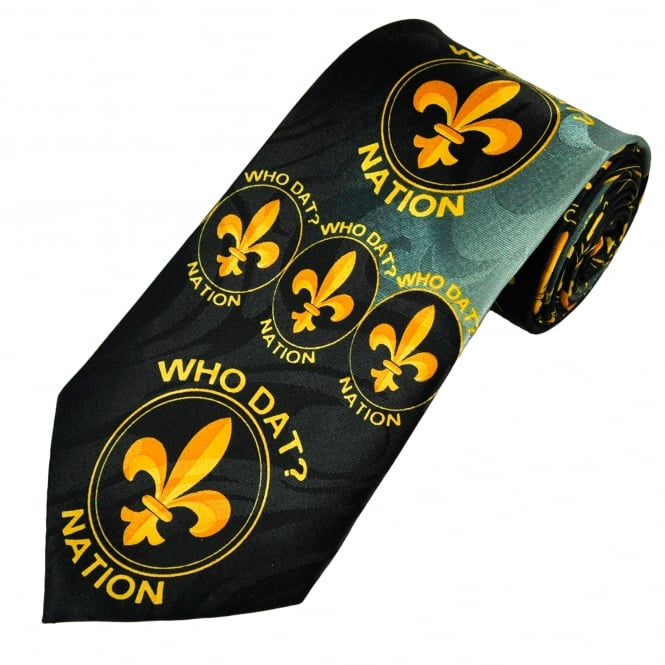 Who Dat? Nation New Orleans Saints Football Men's Novelty Tie