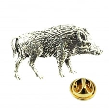Wild Boar English Pewter Lapel Pin Badge