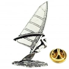 Windsurfer English Pewter Lapel Pin Badge
