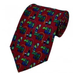 Wine & Grapes Silk Novelty Tie