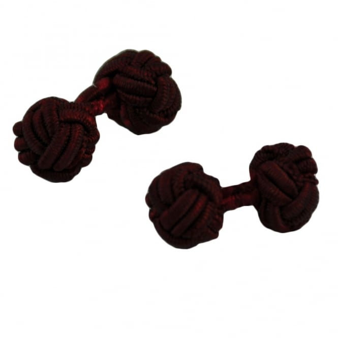 wine red elastic knot cufflinks