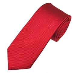Wine Red Narrow Silk Tie