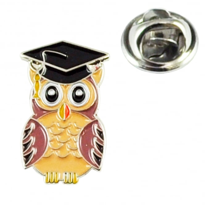 Wise Owl School Graduation Lapel Pin Badge