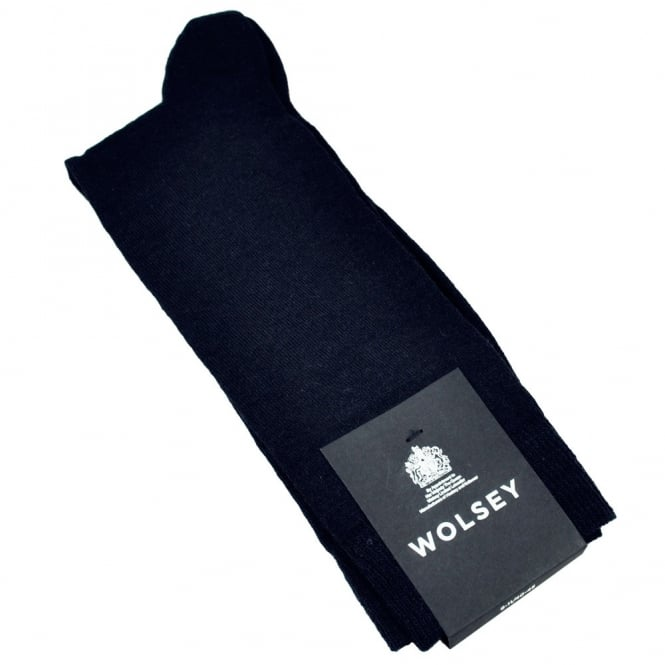Wolsey Plain Navy Blue Wool Men's Socks