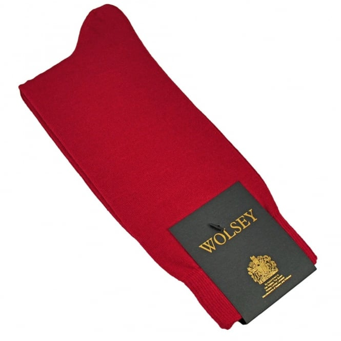 Wolsey Plain Red Bamboo Men's Socks