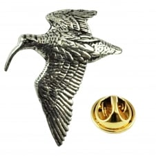 Woodcock Wading Bird English Pewter Lapel Pin Badge
